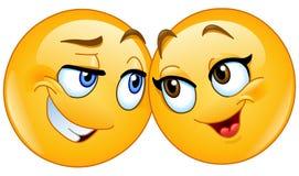 Het houden van emoticons stock illustratie