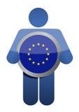 Het houden van Europese Unie vlag Royalty-vrije Stock Afbeelding