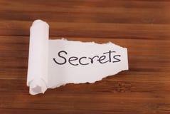 Het houden van Geheimen stock afbeeldingen