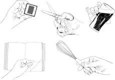 Het houden van handen royalty-vrije illustratie