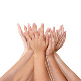 Het houden van handen stock afbeelding