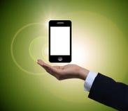 Het houden van mobiele telefoon Royalty-vrije Stock Foto