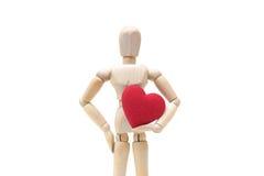 Het houden van rood hart Stock Afbeeldingen