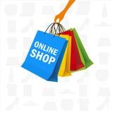 Het houden van vele kleurrijke het winkelen zak Royalty-vrije Stock Fotografie