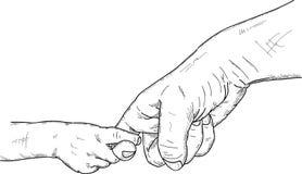 Het houden van vingers Stock Foto's