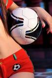 Het houden van voetbal Royalty-vrije Stock Foto