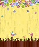 Het hout en de vogel van de illustratie Stock Foto's