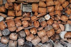 Het hout en het brandhout Royalty-vrije Stock Foto's
