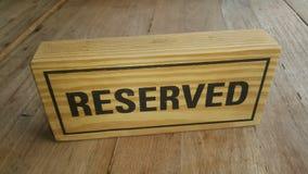 Het hout reserveerde teken Stock Afbeeldingen