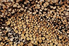 Het hout van de brand Stock Afbeelding