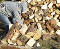 Het hout van de brand Royalty-vrije Stock Foto's