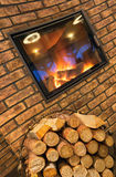 Het hout van de brand Royalty-vrije Stock Afbeelding