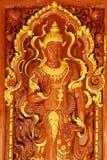 Het hout van de god snijdt Stock Afbeeldingen