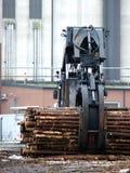 Het Hout van de Lading van de vrachtwagen Royalty-vrije Stock Foto