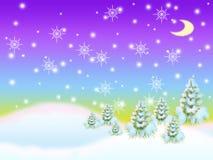 Het hout van de winter. Stock Foto