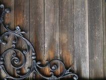 Het hout van Grunge en ijzerachtergrond Stock Fotografie