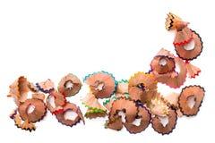 Het hout van het kleurenpotlood Stock Foto's