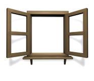 Het hout van het venster Royalty-vrije Stock Afbeelding
