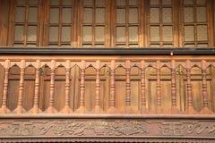 Het houten balkon Stock Afbeeldingen