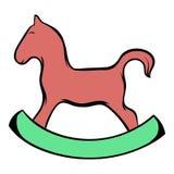Het houten beeldverhaal van het paardpictogram royalty-vrije illustratie