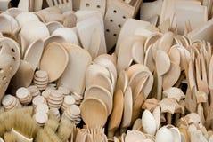 Het houten bestek van Atraction voor toeristen in Polen Royalty-vrije Stock Foto's