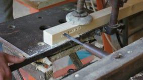 Het houten bewerken stock videobeelden