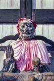 Het houten Boeddhistische standbeeld van Pindolabharadvaja in Nara - Japan royalty-vrije stock afbeelding