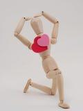 Het houten cijfer toont liefde Royalty-vrije Stock Fotografie