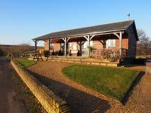 Het houten Clubhuis van de Hut van de Visserij Stock Foto