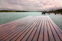 Het houten decking Royalty-vrije Stock Foto's