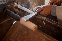 Het houten draaien Royalty-vrije Stock Afbeeldingen
