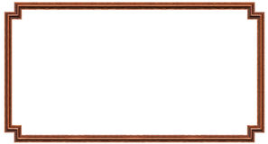 Het houten frame van het beeld Stock Foto's