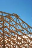 Het houten Frame van het Dak Royalty-vrije Stock Afbeeldingen