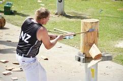 Het houten hakken Stock Foto's