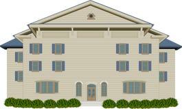 Het houten Herenhuis van de Stijl royalty-vrije illustratie