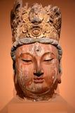 Het houten hoofd van Boedha Stock Afbeeldingen