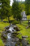 Het houten huis Stock Foto's