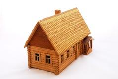 Het houten huis van de close-up Royalty-vrije Stock Foto