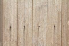 Het houten huis van de muurkunst is Stock Foto
