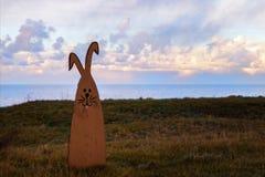 Het houten konijn royalty-vrije stock foto