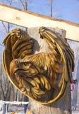 Het houten masker van Ta van een adelaar royalty-vrije stock fotografie