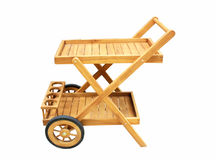Het houten meubilair van de dienend Karretjeteak Royalty-vrije Stock Foto's
