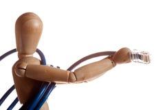 het houten model van de ledenpoppop van Ikea-gestalta Stock Afbeeldingen