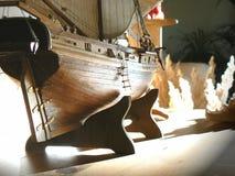 Het houten model van het Schip Stock Foto's