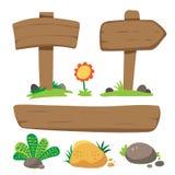 Het houten ontwerp van de Teken vectorinzameling vector illustratie