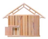 Het houten ontwerp van het huis Stock Foto