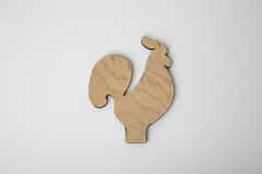 Het houten ornament van de Kerstmishaan op wit Royalty-vrije Stock Afbeelding