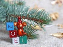 Het houten ornament van Kerstmis Royalty-vrije Stock Foto's
