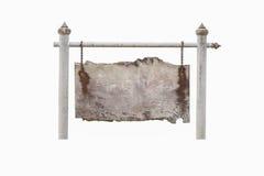 Het houten raad hangen op witte bar Royalty-vrije Stock Foto