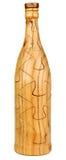Het houten Raadsel van de Fles Stock Afbeeldingen